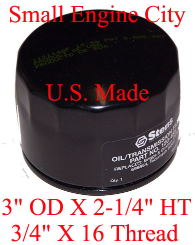 120-485-JD 118 Short Oil Filter Replaces John Deere AM119567, AM125424, GY20577 and LG492932S